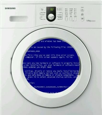 Сбой в программе стиральной машины